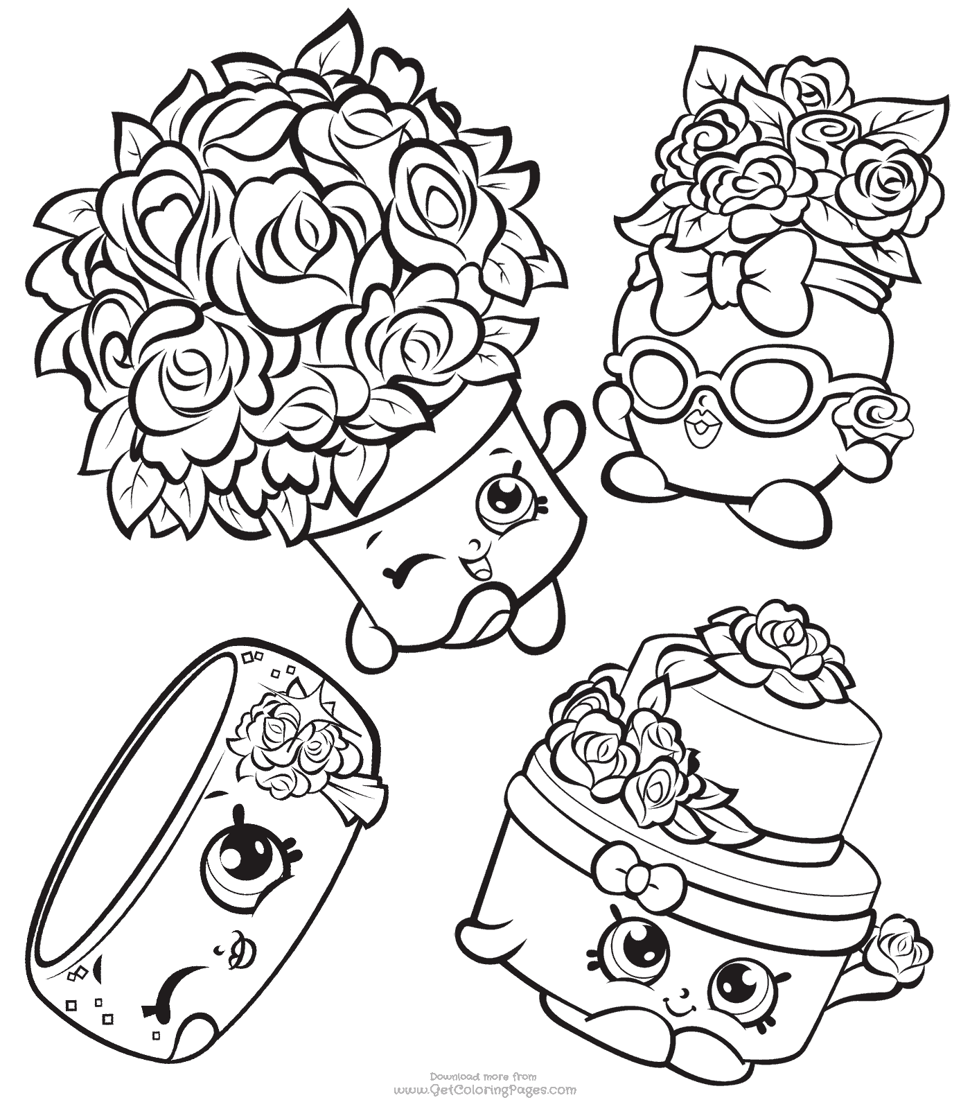 1400x1600 Wedding Shopkins Party Coloring Pages Shopkins To Color