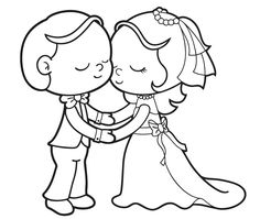 236x199 Free Bride And Groom Printable Coloring Page Bride And Groom