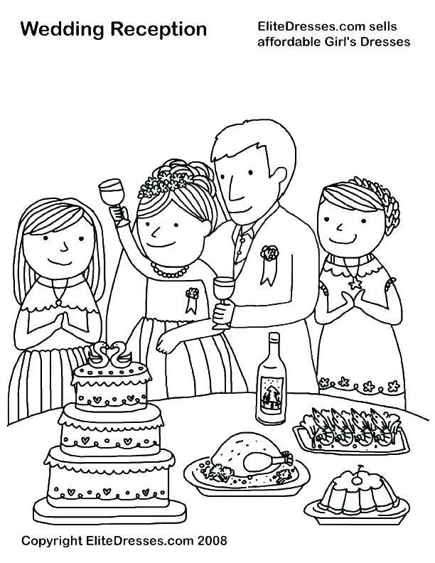 612x792 Coloring Pages S Wedding Party Coloring Page Free Coloring Custom
