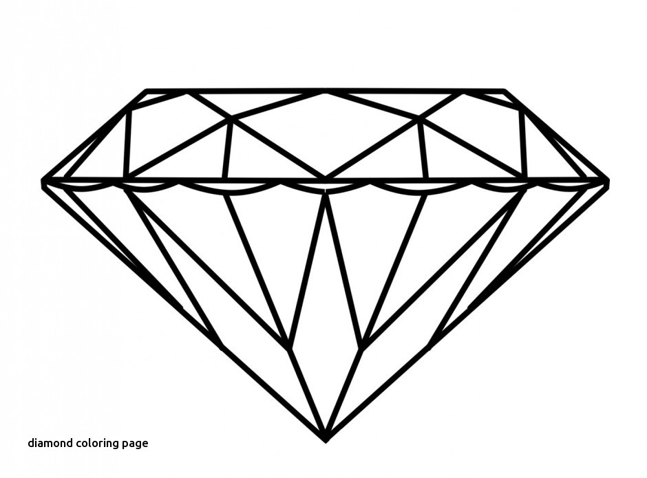 940x695 Diamond Ring Coloring Page For Diamond Coloring Page
