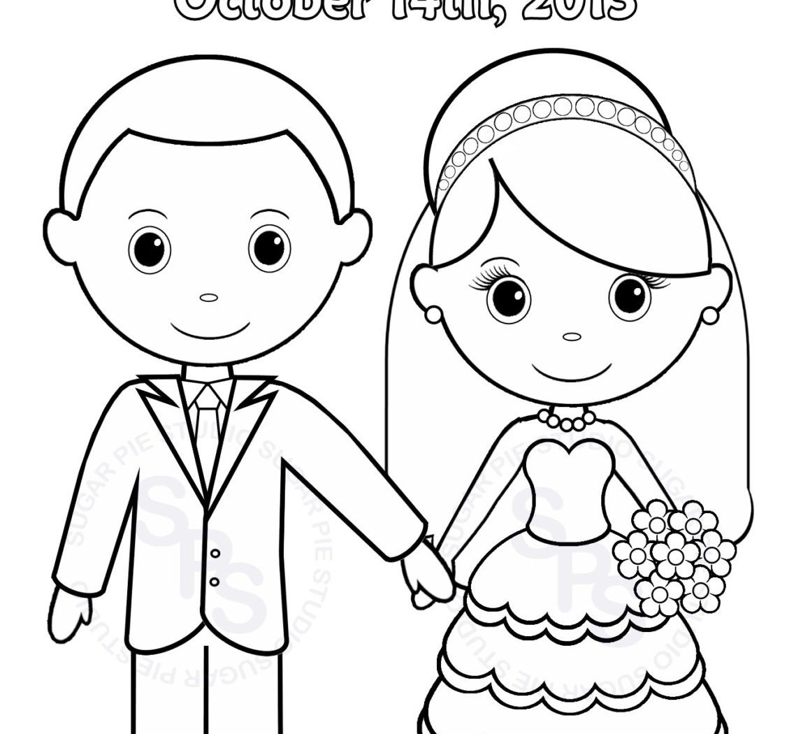 1159x1050 Free Wedding Coloring Pages To Print Wonderful Activity