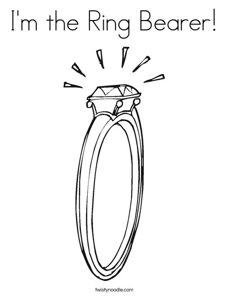 468x605 I'm The Ring Bearer Coloring Page
