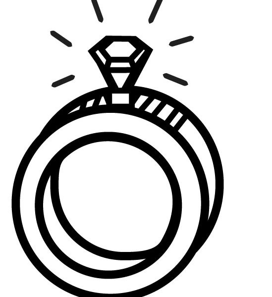 549x600 Ring Coloring Pages Easy Wedding Ring Coloring Pages Wedding