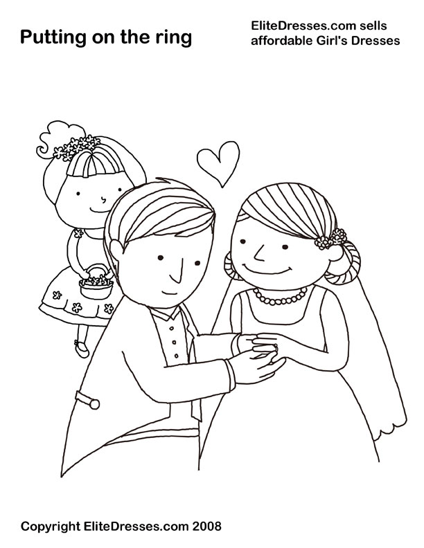 612x792 Wedding Coloring Pages That Are Free And Printable