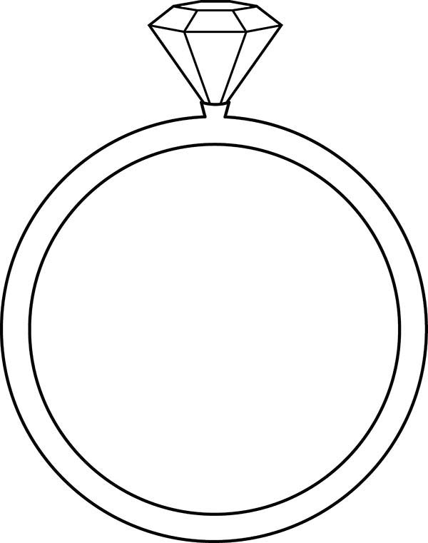 600x761 Wedding Ring Coloring Pages