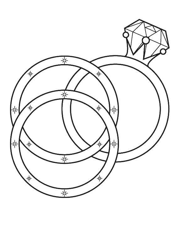 564x729 Wedding Ring Coloring Page