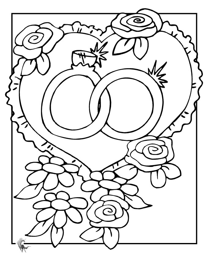 680x880 Wedding Coloring Pages For Kids Downloadable Wedding
