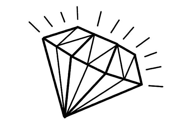 600x450 Diamond Coloring Page