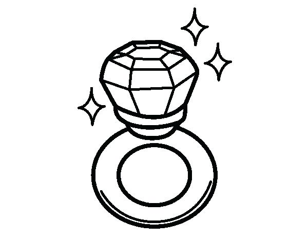 600x470 Diamond Coloring Pages Ring Coloring Pages Diamond Ring Coloring