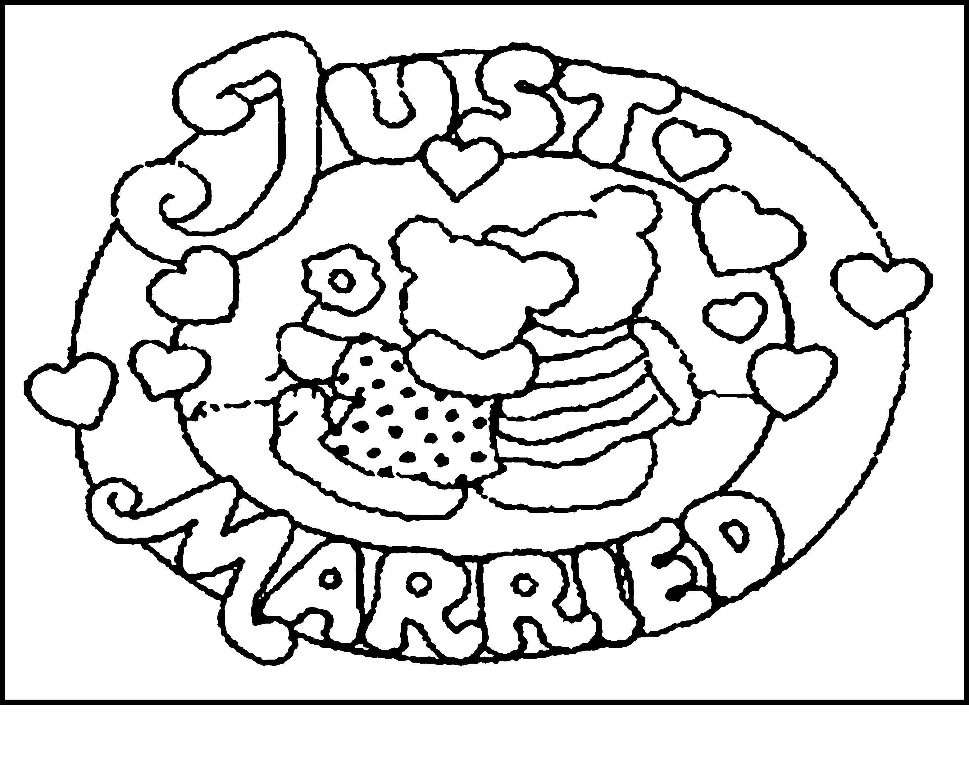 Wedding Themed Coloring Pages