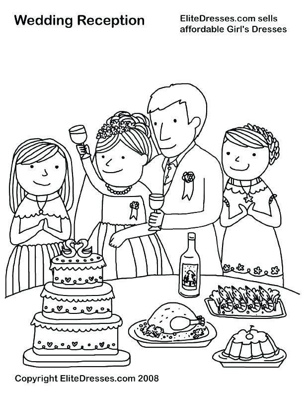 612x792 Wedding Coloring Book Pages Free Free Wedding Coloring Book Also