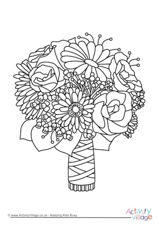 320x452 Wedding Colouring Pages