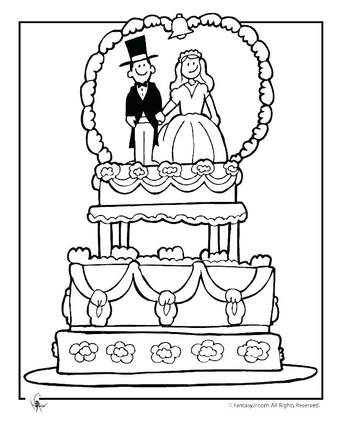680x880 Wedding Themed Free Coloring Sheets