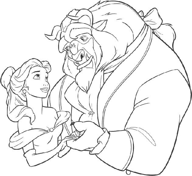 631x576 Beauty And Beast Weddingmed Coloring Books