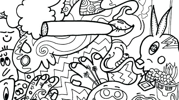 585x329 Psychedelic Coloring Pages Coloring Pages Psychedelic Art Free