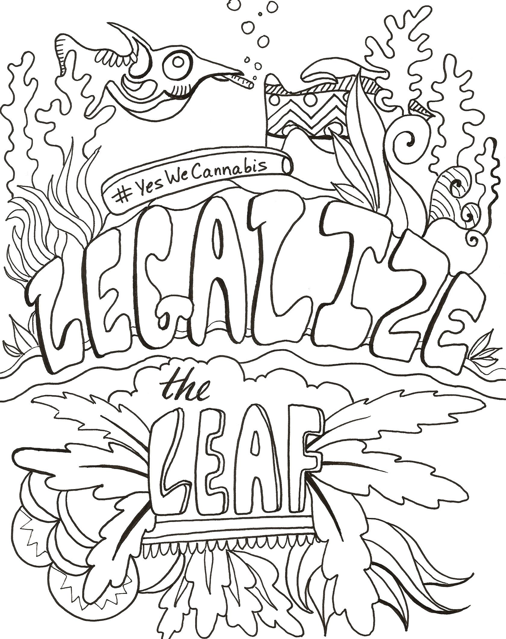 1680x2123 Stoner Coloring Pages Collection Of Marijuana Coloring Pages
