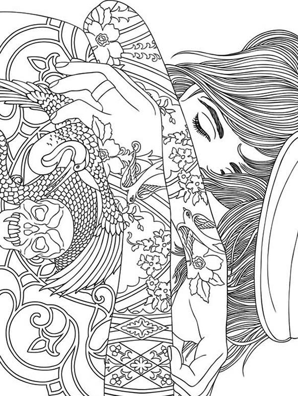 600x797 Trippy Coloring Pages Trippy Weed Coloring Page Free Printable