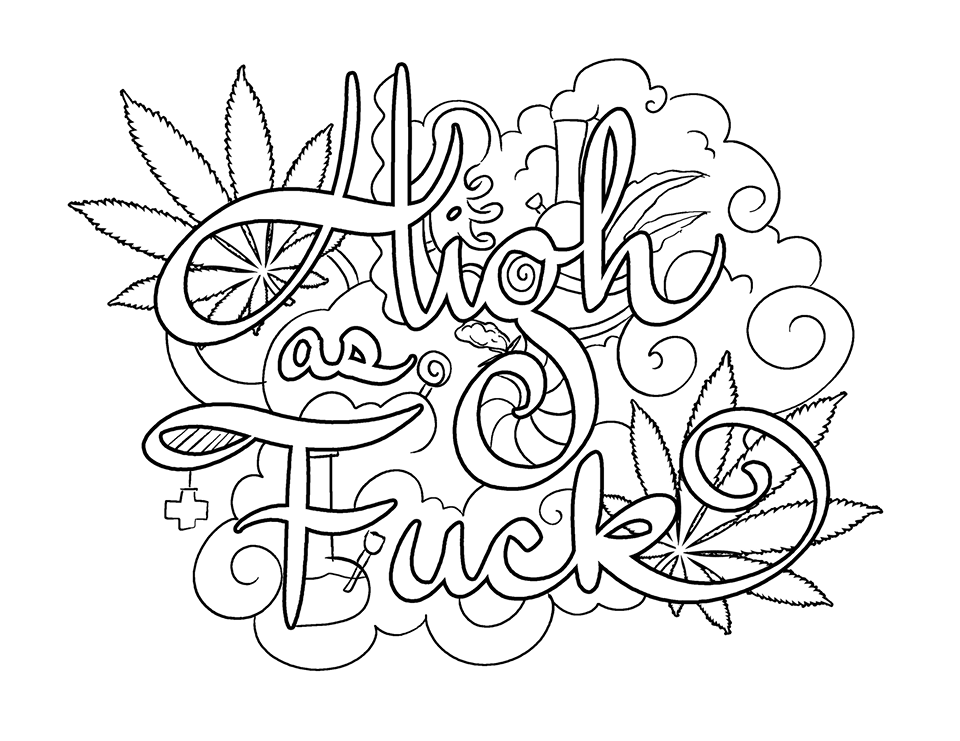 960x741 Adult Coloring Pages Weed