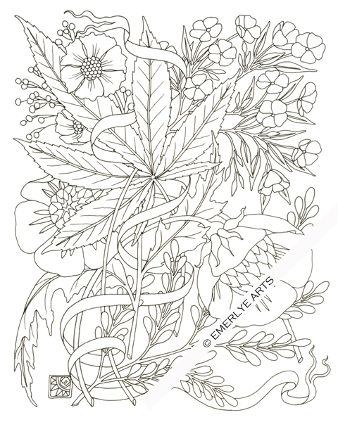 480x600 Weed Coloring Pages