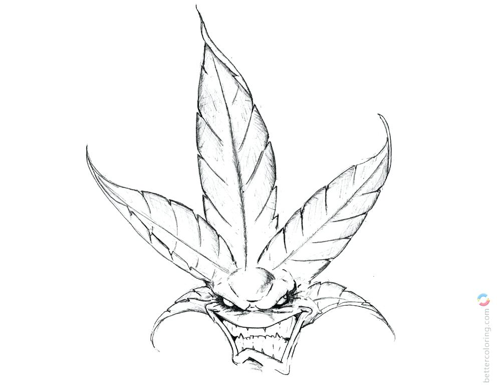 1000x780 Weed Coloring Pages Embroidery Stoner Drawings Free Download This