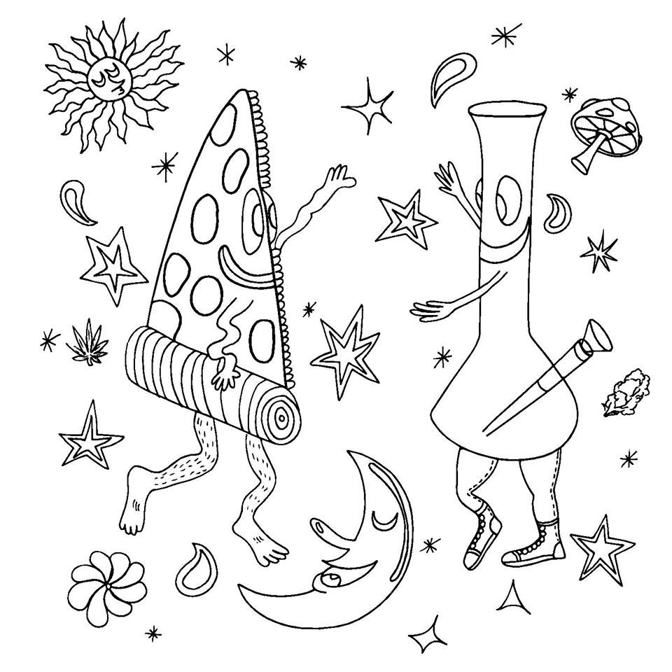 960x960 Weed Coloring Pages Cool Coloring Pages