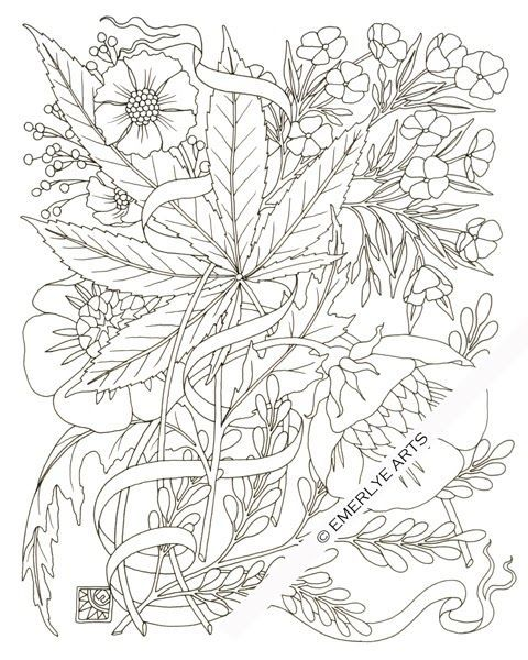 Weed Plant Coloring Pages