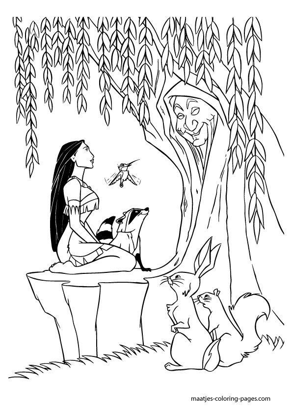 595x842 Willow Tree Coloring Page Simple Living Tree In The World Places