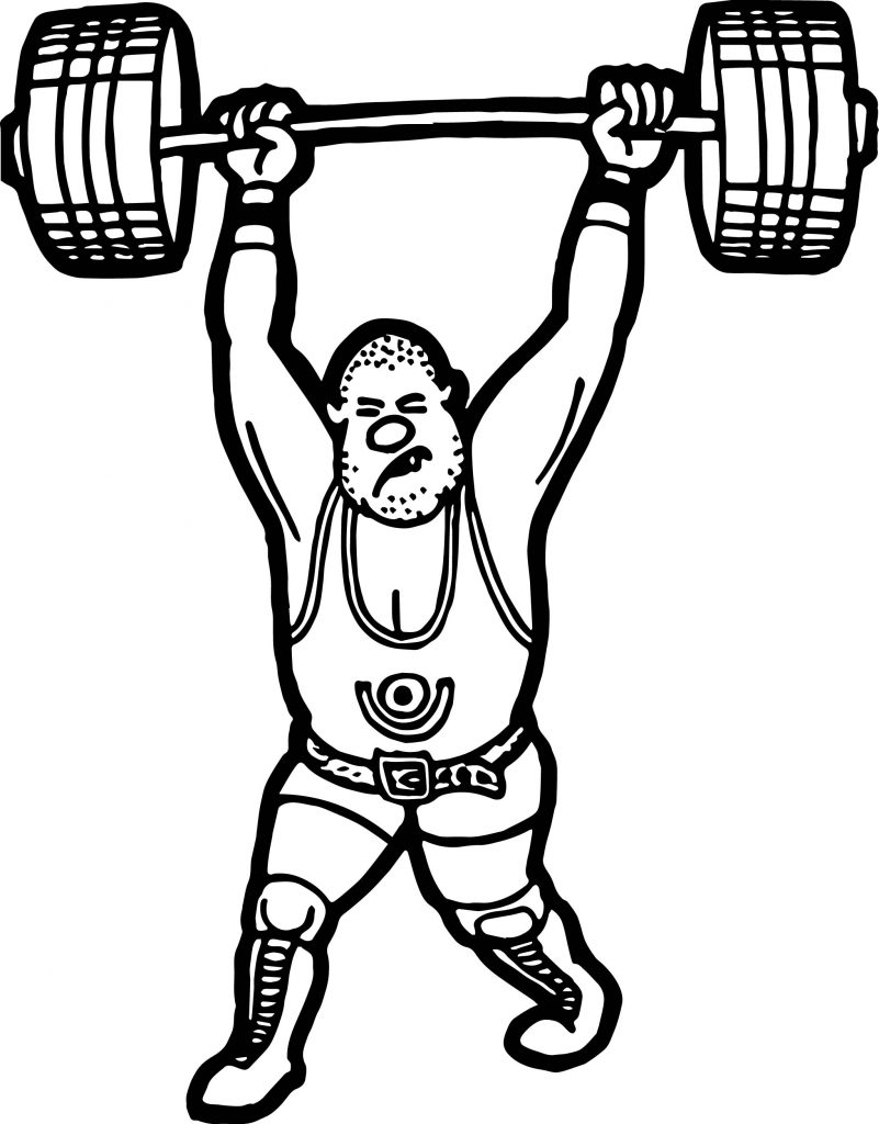 801x1024 Weightlifter Coloring Page Wecoloringpage