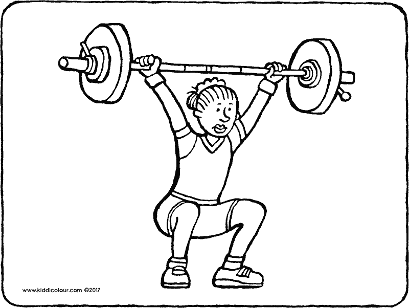 800x602 Weightlifting Coloring Pages
