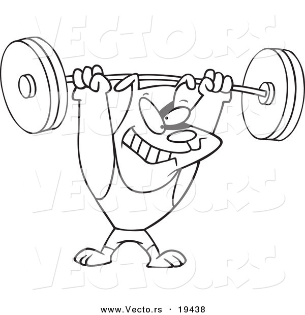 600x620 Weightlifting Coloring Pages Vector Of A Cartoon Dog Lifting