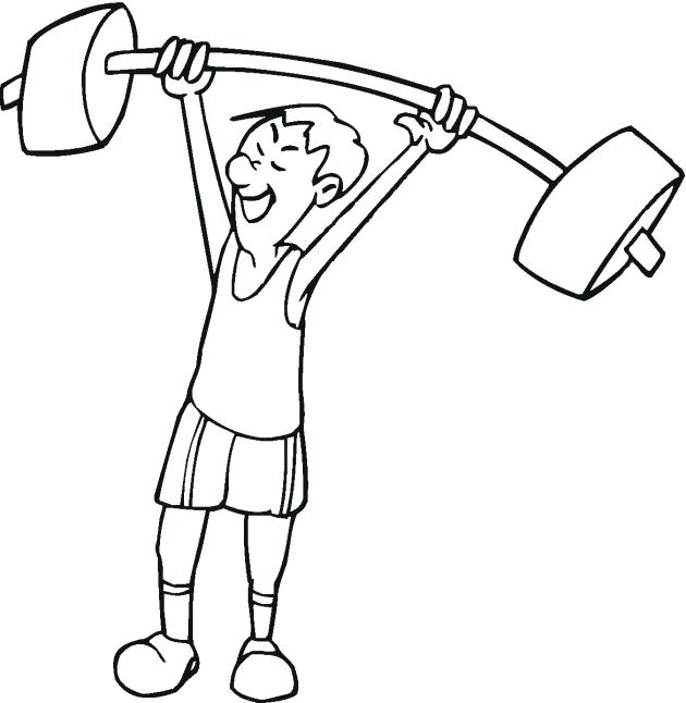 630x646 Weightlifting Coloring Pages Weight Loss Coloring Pages