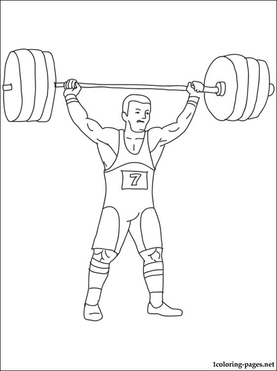560x750 Weightlifting Coloring Page Coloring Pages