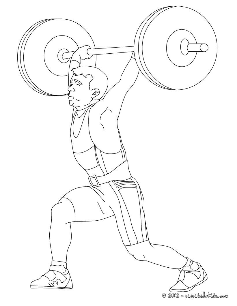 821x1061 Weightlifting Coloring Page More Sports Coloring Pages
