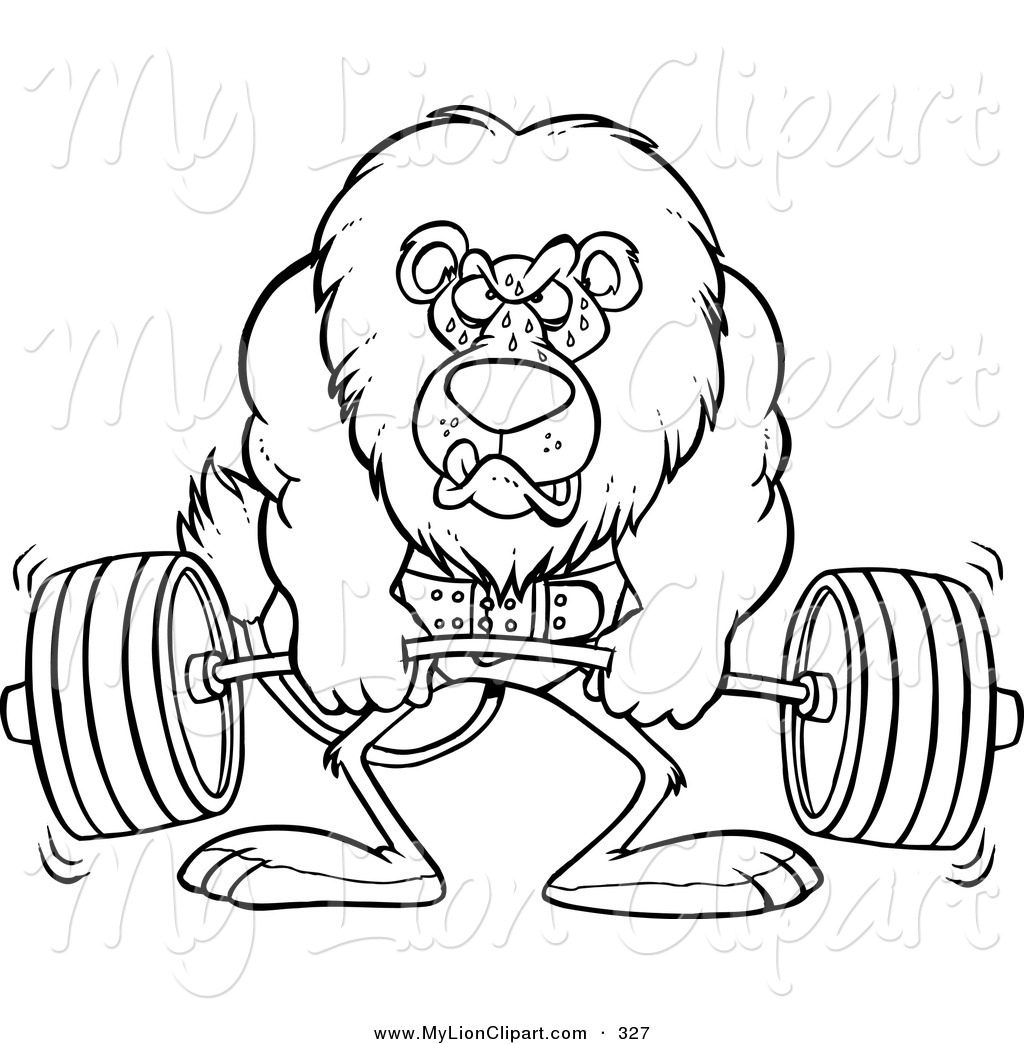 1024x1044 Clipart Of A Cartoon Black And White Outline Design Of A Gym