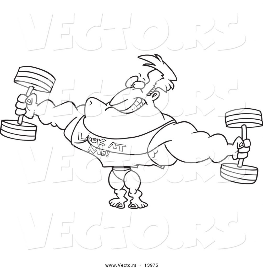 1004x1024 Coloring For Kids Weightlifting Pages Weights Weightlifter Page