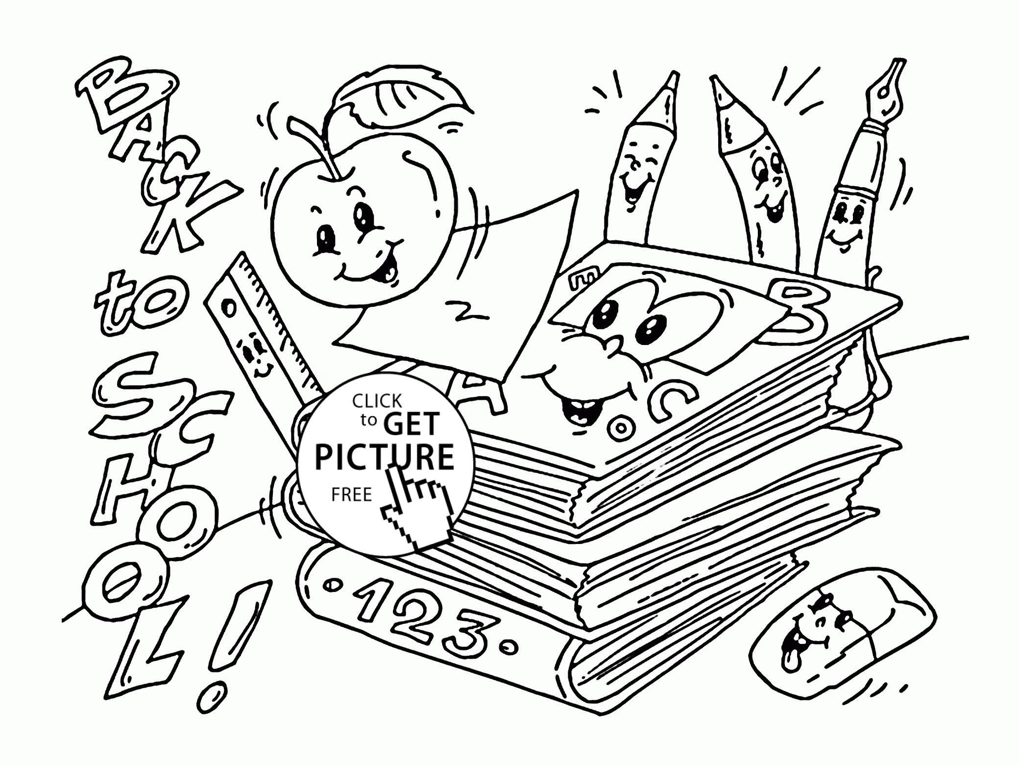 2080x1561 First Day Of School Coloring Pages New Sheet For Kindergarten Free