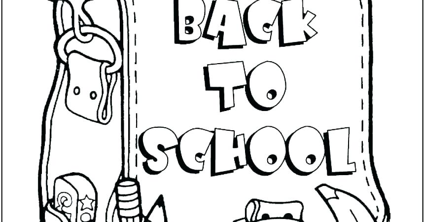860x450 Free Back To School Coloring Pages Coloring Pages For School