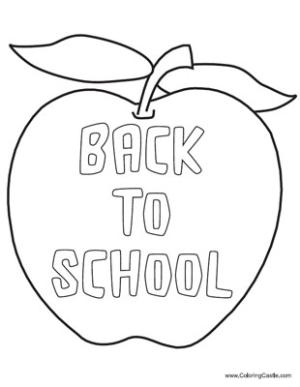 300x387 Back To School Coloring Pages