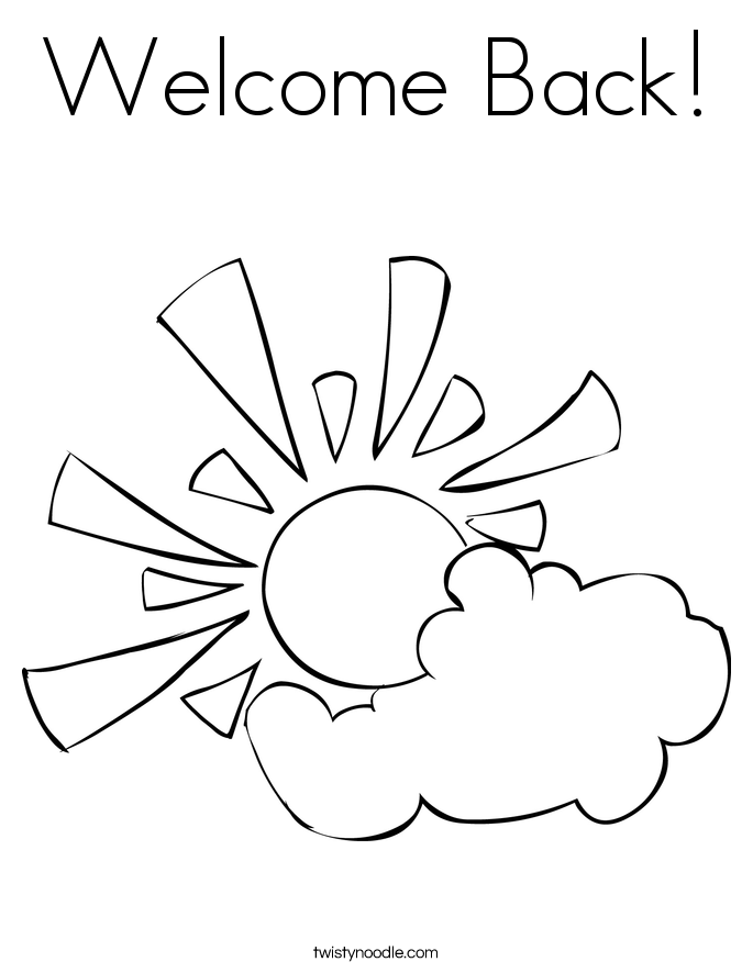 685x886 Welcome Back Coloring Page