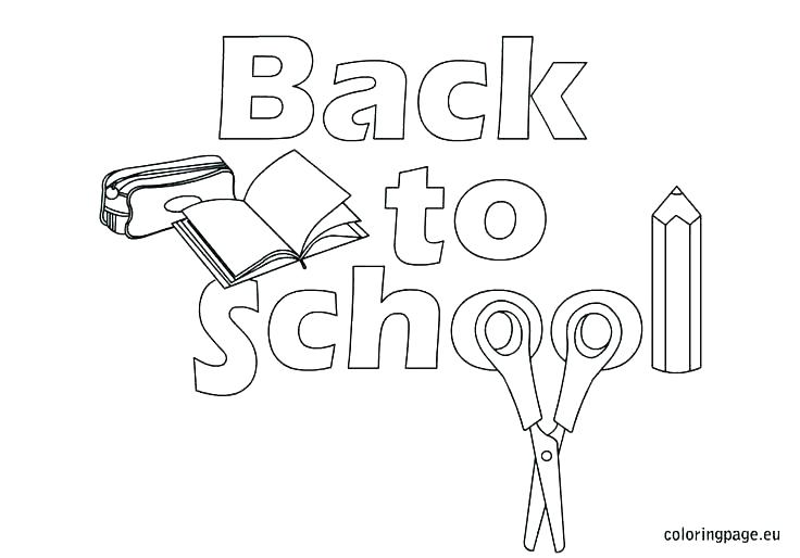 736x514 Welcome Back Coloring Pages Back To School Coloring Pages School