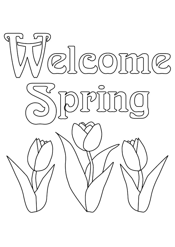 595x842 Welcome Spring Coloring Pages Word Download Free Book On Elegant