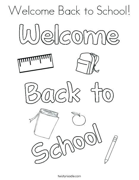 468x605 Back To School Coloring Pages Welcome Back To School Coloring