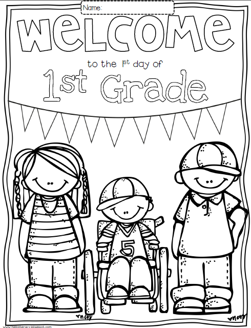 490x640 Back To School Coloring Pages For First Grade Educational