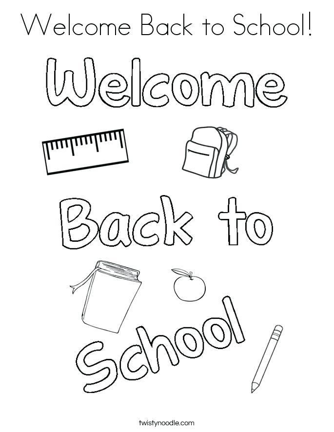 Welcome Coloring Pages