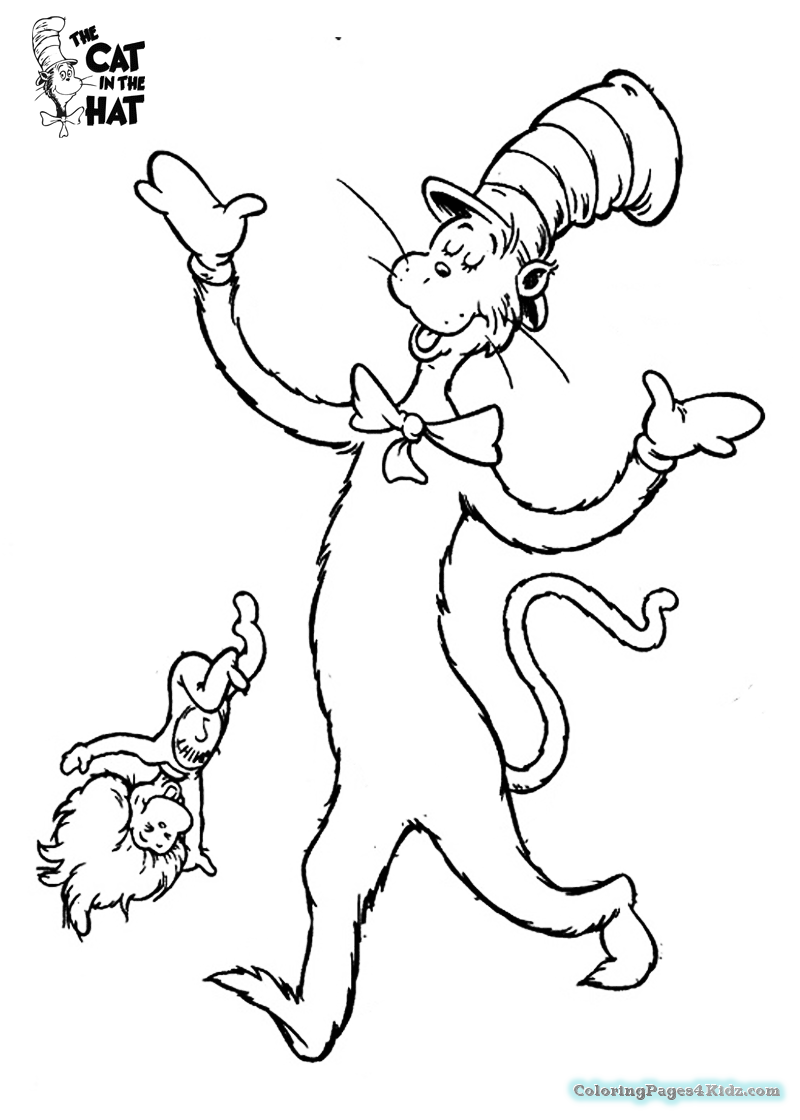 800x1120 Cat In The Hat Welcome Coloring Pages Coloring Pages For Kids
