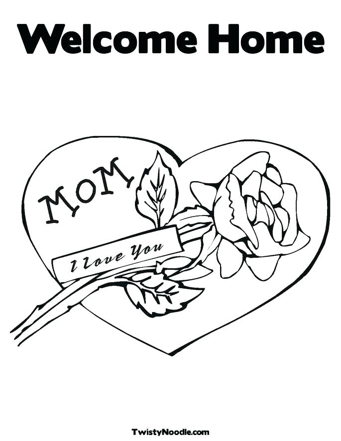 685x886 Welcome Home Coloring Pages Home Coloring Pages Welcome Home