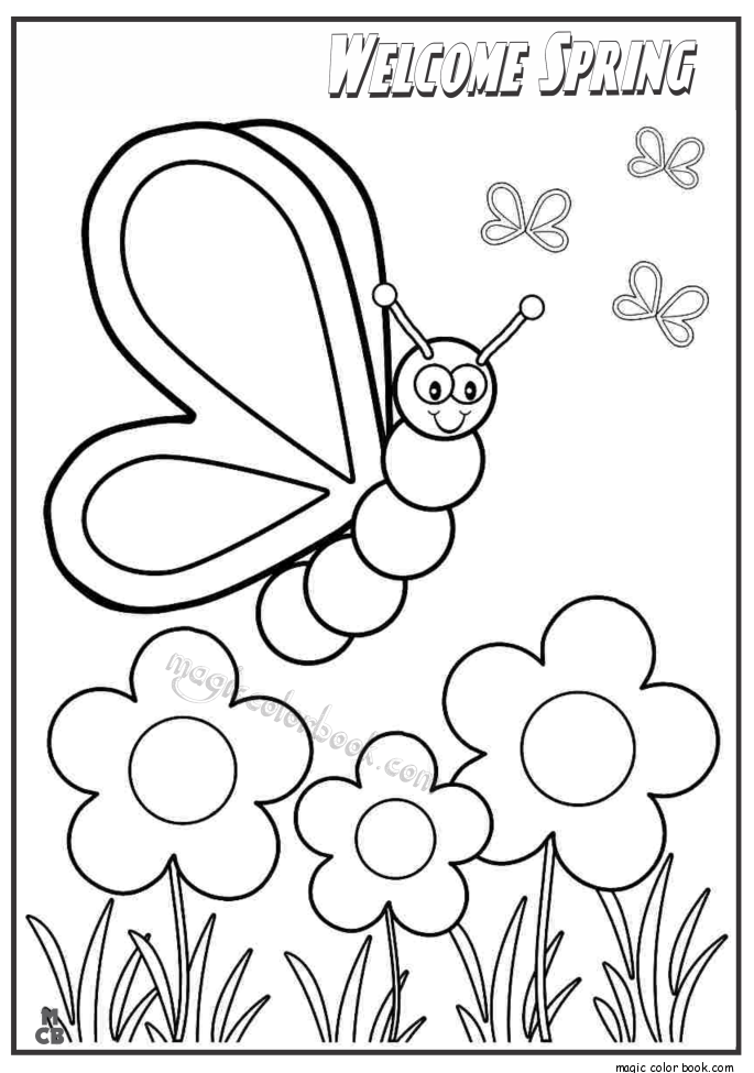 685x975 Welcome Spring Coloring Pages