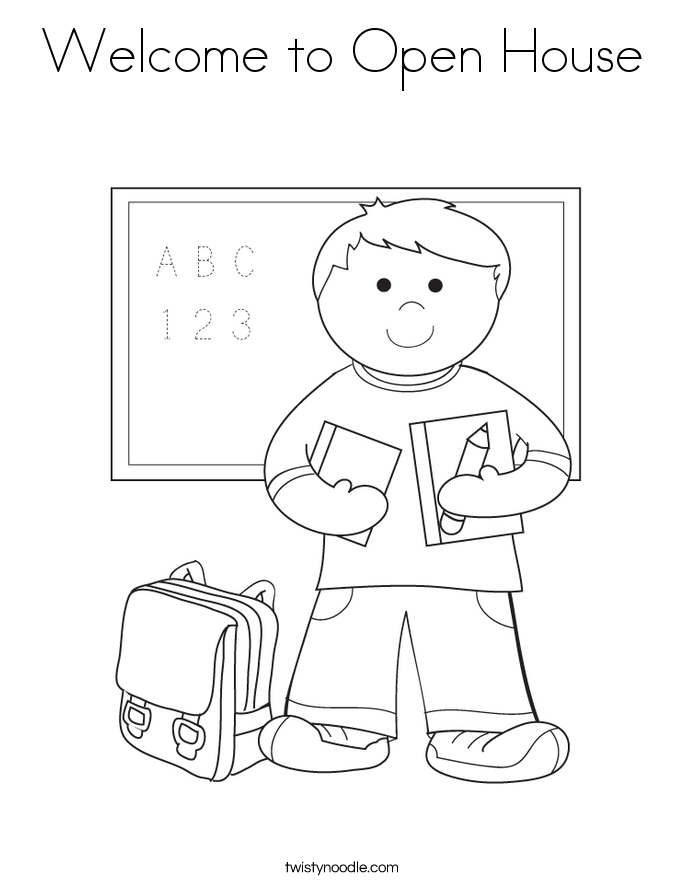 685x886 Welcome To Open House Coloring Page