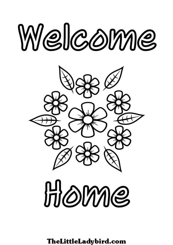 724x1024 Welcome Back Home Coloring Pages Welcome Coloring Page First Day