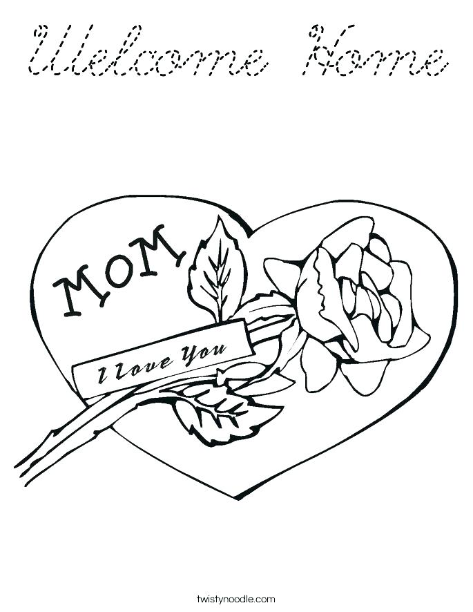 685x886 Welcome Coloring Page